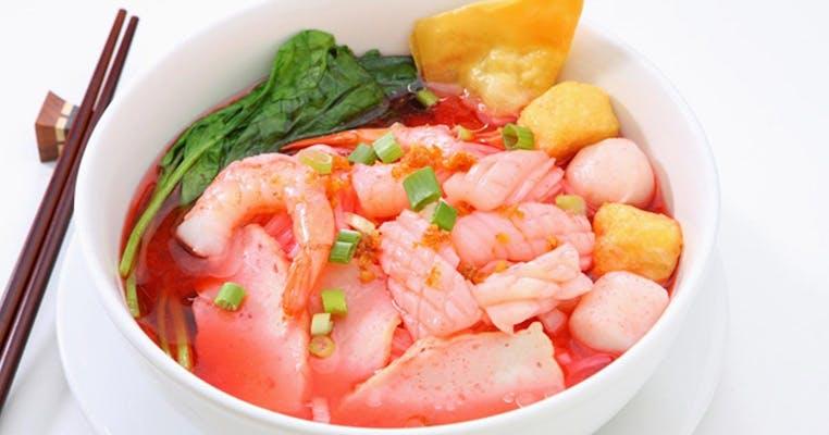 Yen-Ta-Fo Pink Noodle Soup