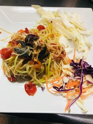 Papaya Salad & Rice