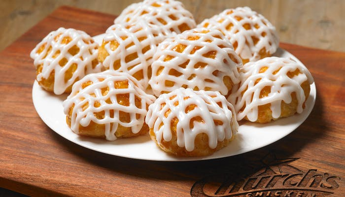 Frosted Honey-Butter Biscuits