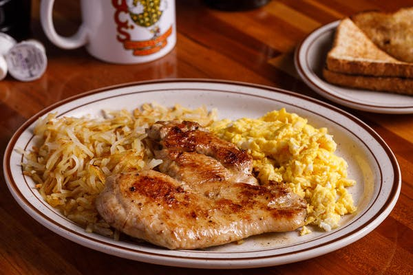 Grilled Chicken Breast & Eggs