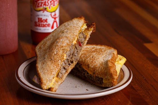 Egg, Cheese & Meat Sandwich