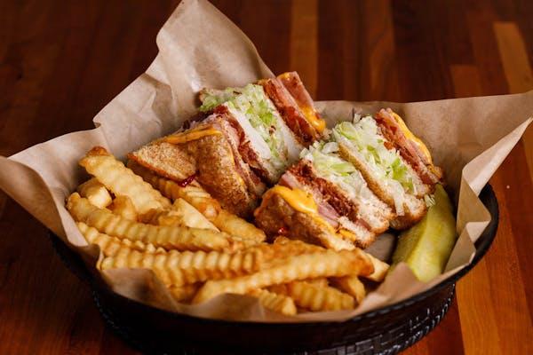 Triple Decker Sandwich & Fries