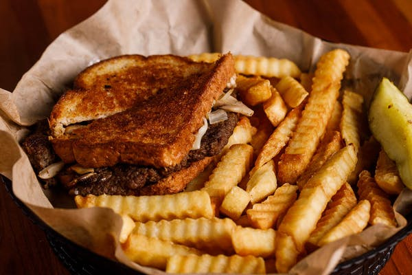 Patty Melt Burger & Fries