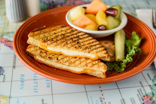 Grilled Triple Cheese Panini Meal