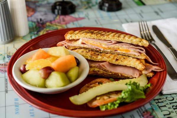 Grilled Honey Mustard Ham Panini Meal