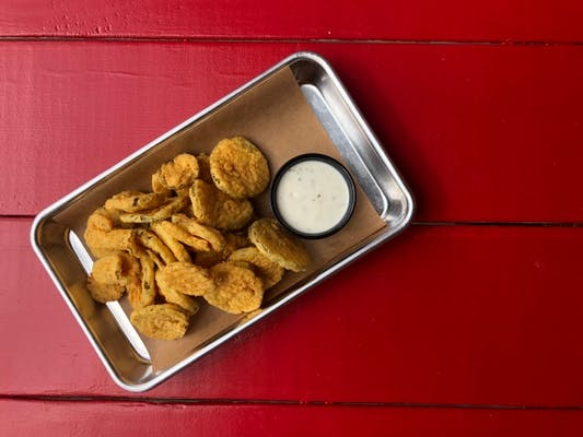 Hand-Breaded Fried Pickles