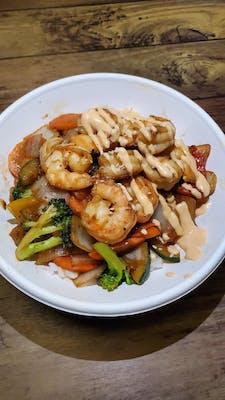 Shrimp Teriyaki Donburi