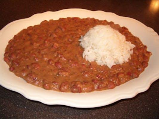 Red Beans, Sausage & Rice Platter