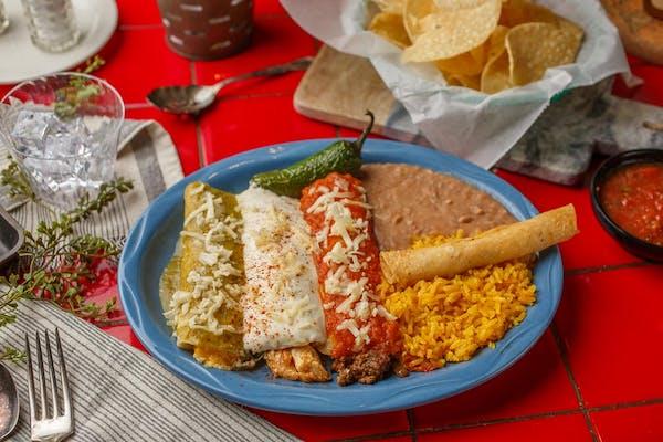 Enchiladas de Tres Plate
