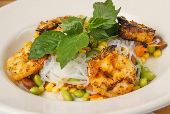Grilled Shrimp Yam Noodles Salad