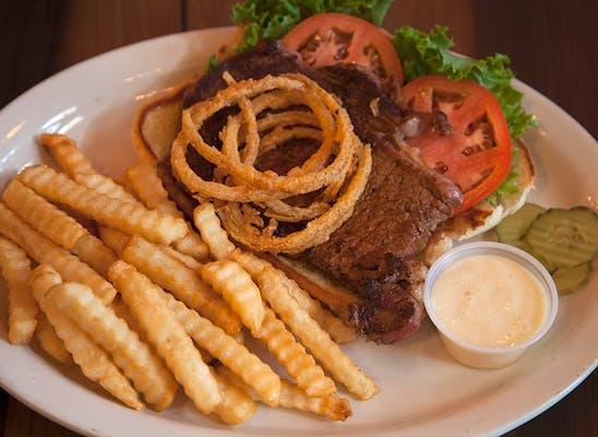 The Black Cow Steak Sandwich