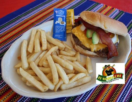 67. Hamburger Azteca & Fries
