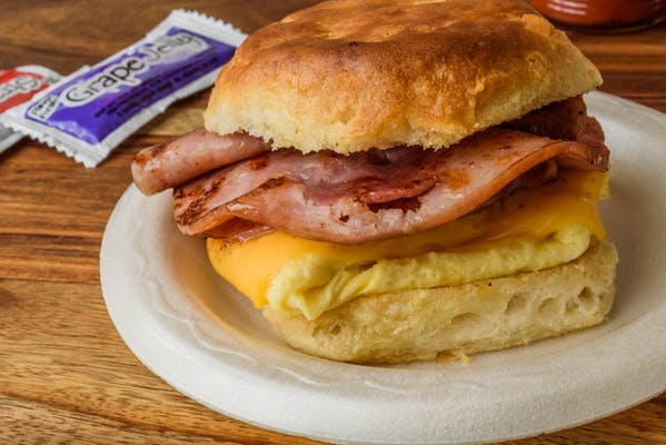 Ham, Egg & Cheese Biscuit