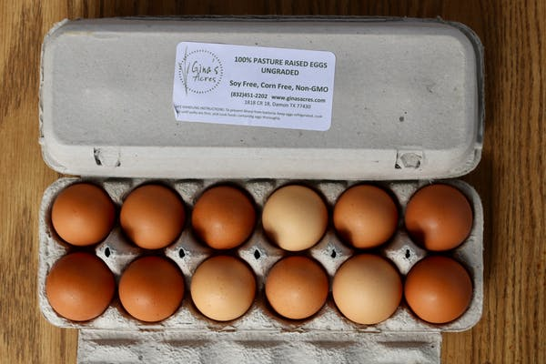 Gina's Acres Fresh Farm Eggs 1 dozen