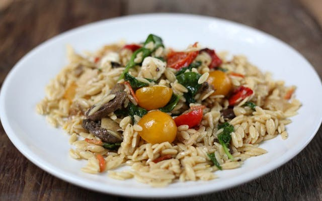 Orzo with Fresh Vegetables