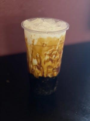 Brown sugar milk tea with boba