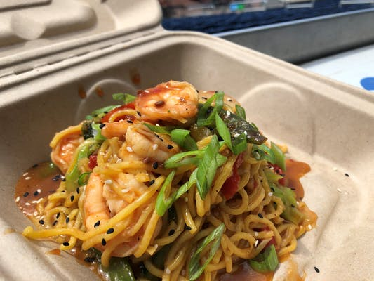 Stir Fry Shrimp Lo Mein