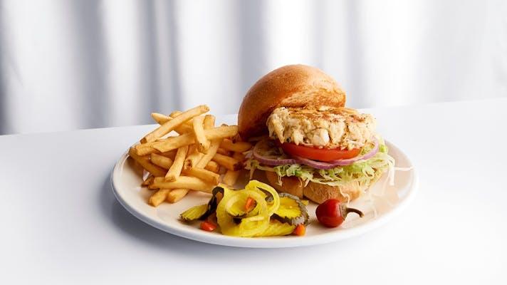 Dungeness Crab & Shrimp Cake Sandwich