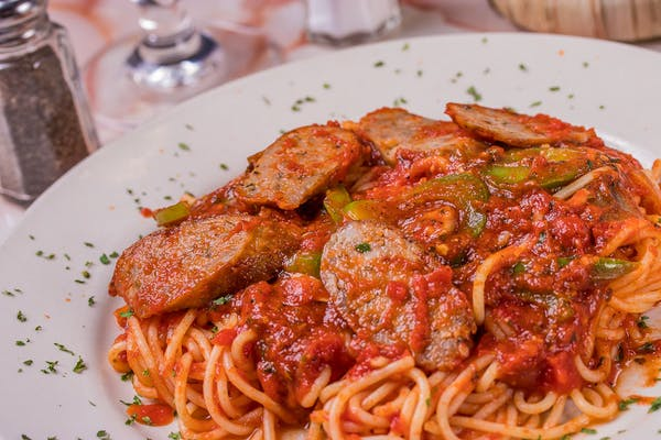 Sausage Pepper Spaghetti