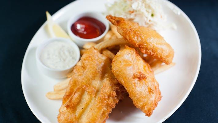 Alaskan Cod & Chips (3 piece)
