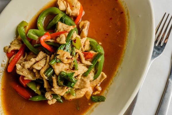 Spicy Basil Leaf Stir Fry