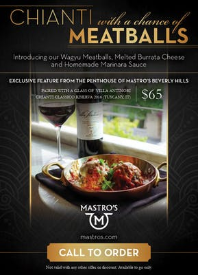 Chianti w/ a Chance of Meatballs