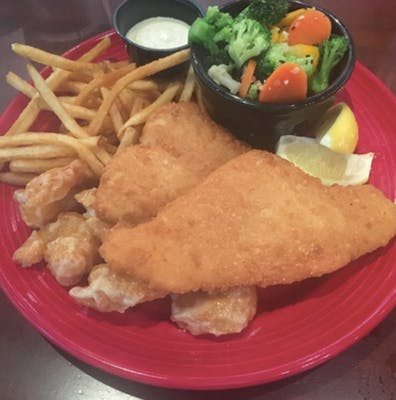 Fried Flounder & Shrimp Combo