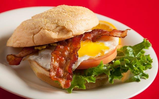 Breakfast Egg Bomb BLT Sandwich