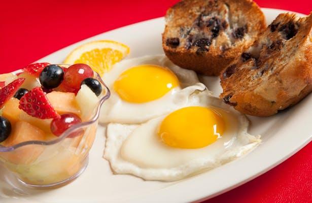 Breakfast Blueberry Muffin & Eggs