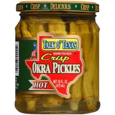 (16 oz.) Talk O' Texas Crispy Hot Okra Pickles
