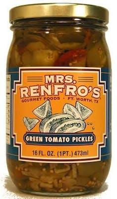 (16 oz.) Mrs. Renfro's Green Tomato Pickles