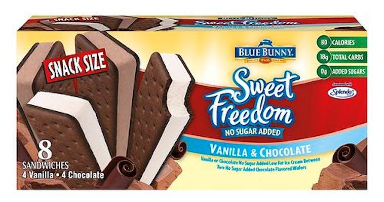 Blue Bunny Sweet Freedom No Sugar Added Ice Cream