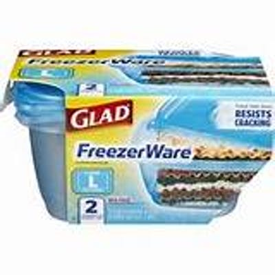 (2 ct.) Glad Freezer Ware Containers & Lids (Large Rectangle)