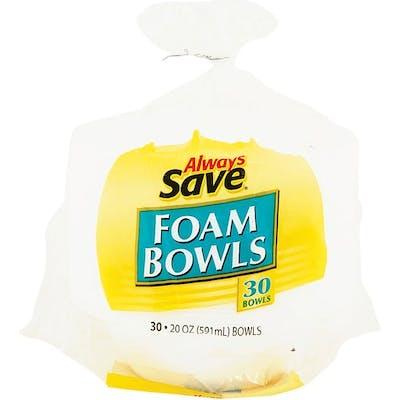 Always Save Foam Bowls