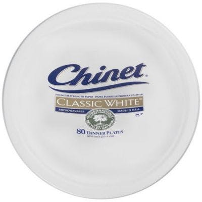 Chinet Classic White Plates