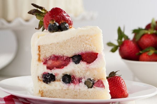 Strawberry Ambrosia Cake