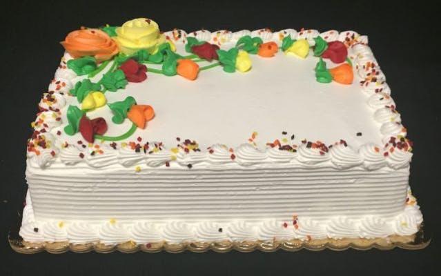 Yellow Quarter Sheet Cake