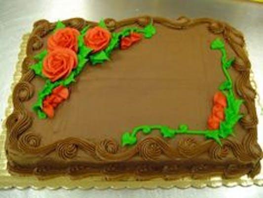 Chocolate Quarter Sheet Cake