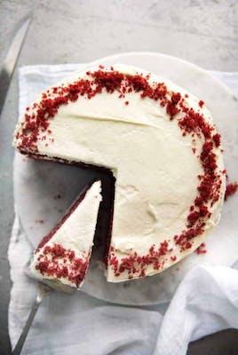 """8"""" Single Layer Red Velvet Cake"""