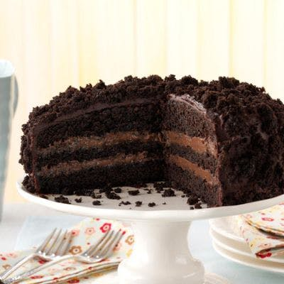 """8"""" Single Layer Black Out Cake"""