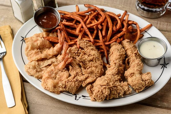 Shrimp & Chicken Tenders Platter