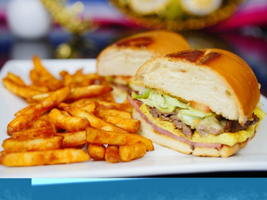 Chivito Sandwich & French Fries