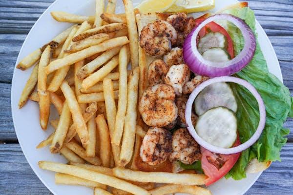 Blackened Shrimp Po-Boy
