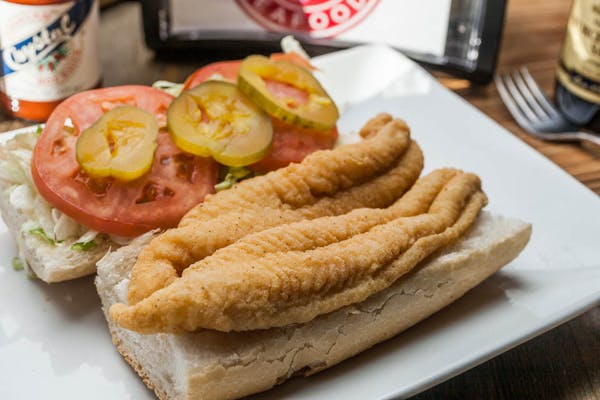 Lunch Catfish Po-Boy or Bun