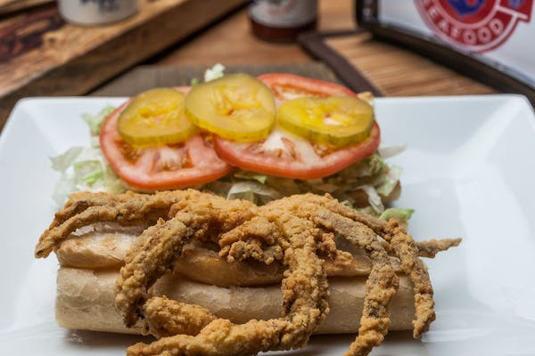 Soft Shell Crab Po-Boy & Fries