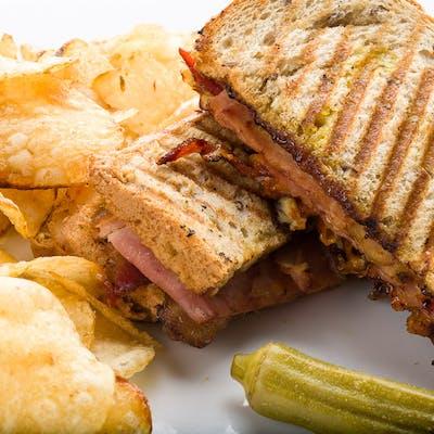 The Applewood Bacon Club Sandwich