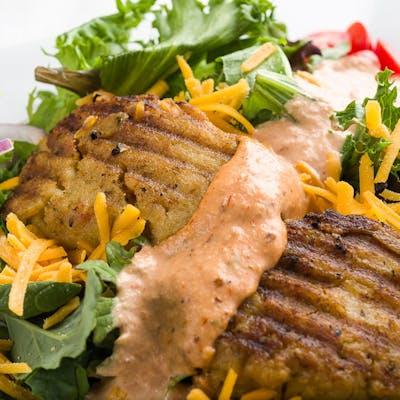 Grilled Corn & Crab Cake Salad