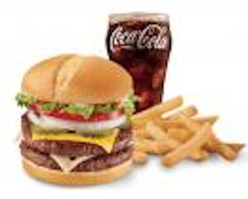 Double with Cheeseburger Combo
