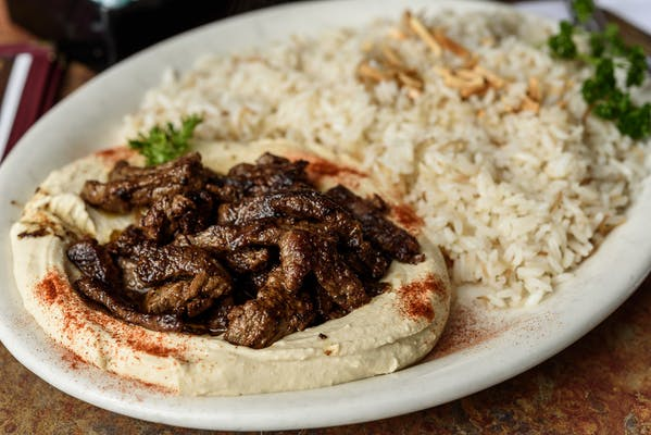 Hommous with Lamb