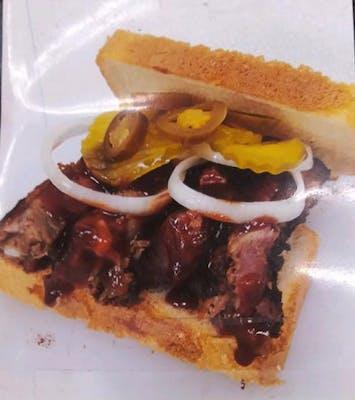4. Rib Sandwich & French Fries